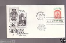 US FDC 4¢ 150 ANNIVERSARY MEXICAN INDEPENDENCE 1810 - 1960 Clearance  Sale