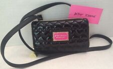 NWT Betsey Johnson Wallet On A String Be Mine Front Pocket Black BR22580