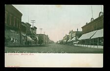 Early Printed Photo Postcard Third Street Wadena MN  Great Storefronts A9848