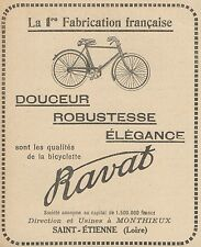 Z9503 Bicyclette RAVAT -  Pubblicità d'epoca - 1922 Old advertising