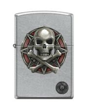 Zippo 207 Anne Stokes Collection Skull & Crossbones Lighter RARE