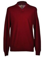 Levis Made & Crafted Rosewood Red Collared Wool Knit Jumper Sweater 4 US XL