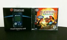 ALL NEW Sega Dreamcast Blue Virtual VMU Memory Card +  Alien Front Online Game