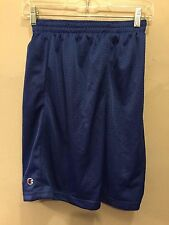 NWT CHAMPION MESH SHORTS DRAWSTRING BLUE MEN SZ M BASKETBALL RUNNING PE