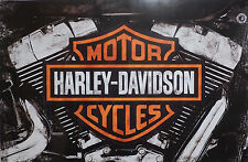 "Harley-Davidson Wall Poster Collectible Art ""Twin Cam"" #202"