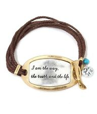 Tribal Bracelet Jewelry I Am The Way The Truth And The Life Bible Verse US SELL