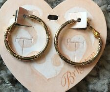Brighton Gold EAR CHARM HOOP Earrings NWT