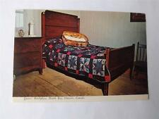 DIONNE QUINTS BIRTHPLACE POSTCARD NORTH BAY ONTARIO CANADA BEDROOM VIEW
