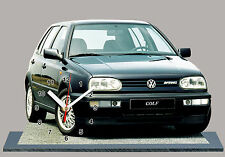 MODEL CARS, VOLKSWAGEN GOLF 3 VR6 -05,11,8x 7,8 inches with Clock