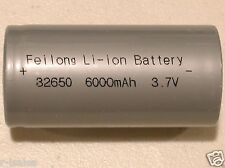 2 pc FEILONG 32650 3.7v 6000mAh Li-ion  RECHARGEABLE BATTERY