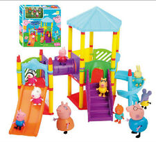 Peppa Pig Big Sliding Amusement Park with 10 Friends Figures Kids Toys Doll Gift