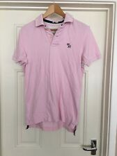 Men's Abercrombie And Fitch Pink Muscle Polo Shirt Size Small