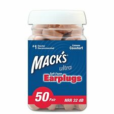 Mack's Ear Care Ultra Soft Foam Earplugs, 50 Pair MODEL NO.Mac-6244 32 decibels