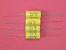 4 x NOS 3.3uF RFT 100V 5% MKT Axial Polyester Caps Capacitors Tube Amplifier
