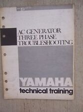 1985 Yamaha Motorcycle Training Manual AC Generator 3 Phase Troubleshooting  L