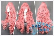 90cm VOCALOID Megurine Luka Ruka PINK Anime Cosplay Cos Party Event Wig+Ponytail