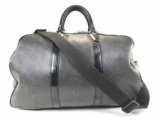 Vintage Louis Vuitton Kendall Taiga Leather Keepall Duffle Bag Strap Black W286