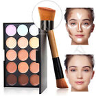 UK 15 Colors Concealer Kit With Brush Face Makeup Contouring Cream Palette#1