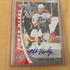 06-07 2006-07 UD POWER PLAY MIKE VAN RYN POWER MARKS AUTOGRAPH PM-MV PANTHERS