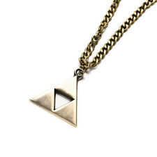 Bronze For The Legend of Zelda Triforce Cosplay Alloy Necklace Pendant triangles