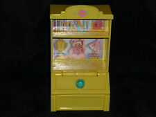 Fisher Price Loving Family Dollhouse Book Shelf Case Toy Box Kids Room Yellow