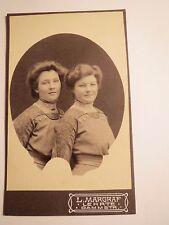 Lehrte - Geschwister König (Sedansplatz) als junge Frauen - Portrait / CDV