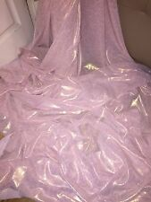"1 MTR BABY PINK/GOLD SELF PRINT SHIMMER CHIFFON FABRIC...60"" WIDE"