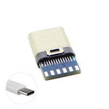 DIY 24pin USB-C 3.1 Male Plug Connector SMT type & 3.5mm SR and Housing Cover