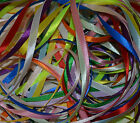 6mm SATIN RIBBON 16 METRE BUNDLE ASSORTED COLOURS 2 MTRS. EACH OF 8 COLOURS