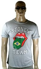 AMPLIFIED ofi. ROLLING STONES Equipo Brasil Lengua Vintage Agujeros