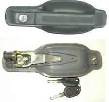 IVECO TURBO DAILY 89-99 OUTER RIGHT FRONT SIDE REAR DOOR HANDLE WITH KEYS GREY