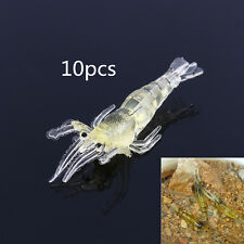 10pcs Life-like Soft Shrimp Prawn Fishing Lure Bait Saltwater Carp Fish Lures
