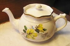 Collector Arthur Wood Staffordshire, England #5161 Teapot Yellow Flowers