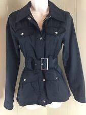 Steve Madden Jacket Small Black NWOT Belted