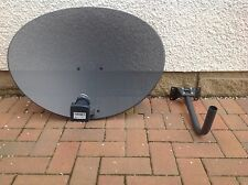 Zone 2 Sky Satellite Dish Quad LNB Freesat PVR HD Plus 80cm grey Hotbird Polsat