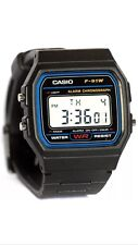 Casio F91wRetro Unisex Black Digital Watch