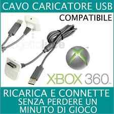CAVO PER RICARICA BATTERIA JOYPAD XBOX 360 RICARICA TRAMITE ATTACCO USB