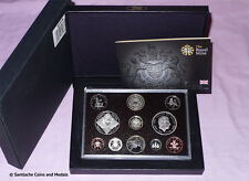 2008 ROYAL MINT PROOF SET COINS - Last Emblems Coinage - Scarce Olympics £2