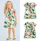 0-5Y Baby Kids Girls Floral Short Sleeve Princess Skirt Summer Casual Mini Dress