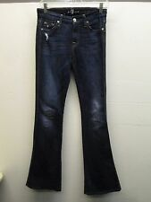 for all mankind 7 jeans 'A' pocket dark denim slight flare size 24/33 (29) EUC