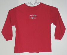 TOMMY HILFIGER Boys Size 4T Red Long Sleeve Shirt (Made in Canada)