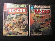 1974 SAVAGE TALES Ka-Zar Magazine LOT of 2 #6 VG+ 7 VG+ Neal Adams