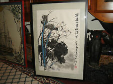 Superb Chinese Or Japanese Water Color Painting Or Drawing-Signed & Stamped-LQQK