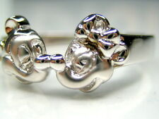 9, 11 or 12  AUTH DISNEY MICKEY & MINNIE MOUSE STERLING SILVER PLATINUM RING