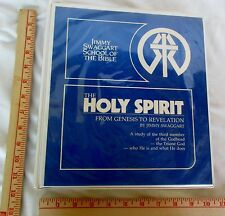 1983 The Holy Spirit Genesis to Revelation by Jimmy Swaggart in Notebook Binder