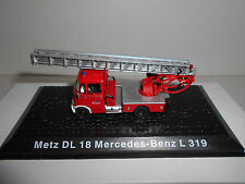 METZ DL 18 MERCEDES-BENZ L 319 FIRE POMPIERS BOMBEROS DEAGOSTINI ATLAS 1:72