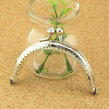Silver Metal Frame Kiss Clasp For Handle Bag Purse 8.5CM/3.35inch D11