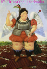 "Art Repro oil painting:""Fernando Botero Portrait at canvas"" 24x36 Inch #029"
