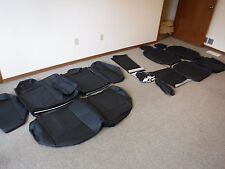 2007 2012 NISSAN ALTIMA 4DR BLACK Leather Seat Covers Interior Seats SET kit NEW