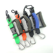 Scuba Diving Spiral Coil Lanyard Quick Release Stainless Steel 316# Clips